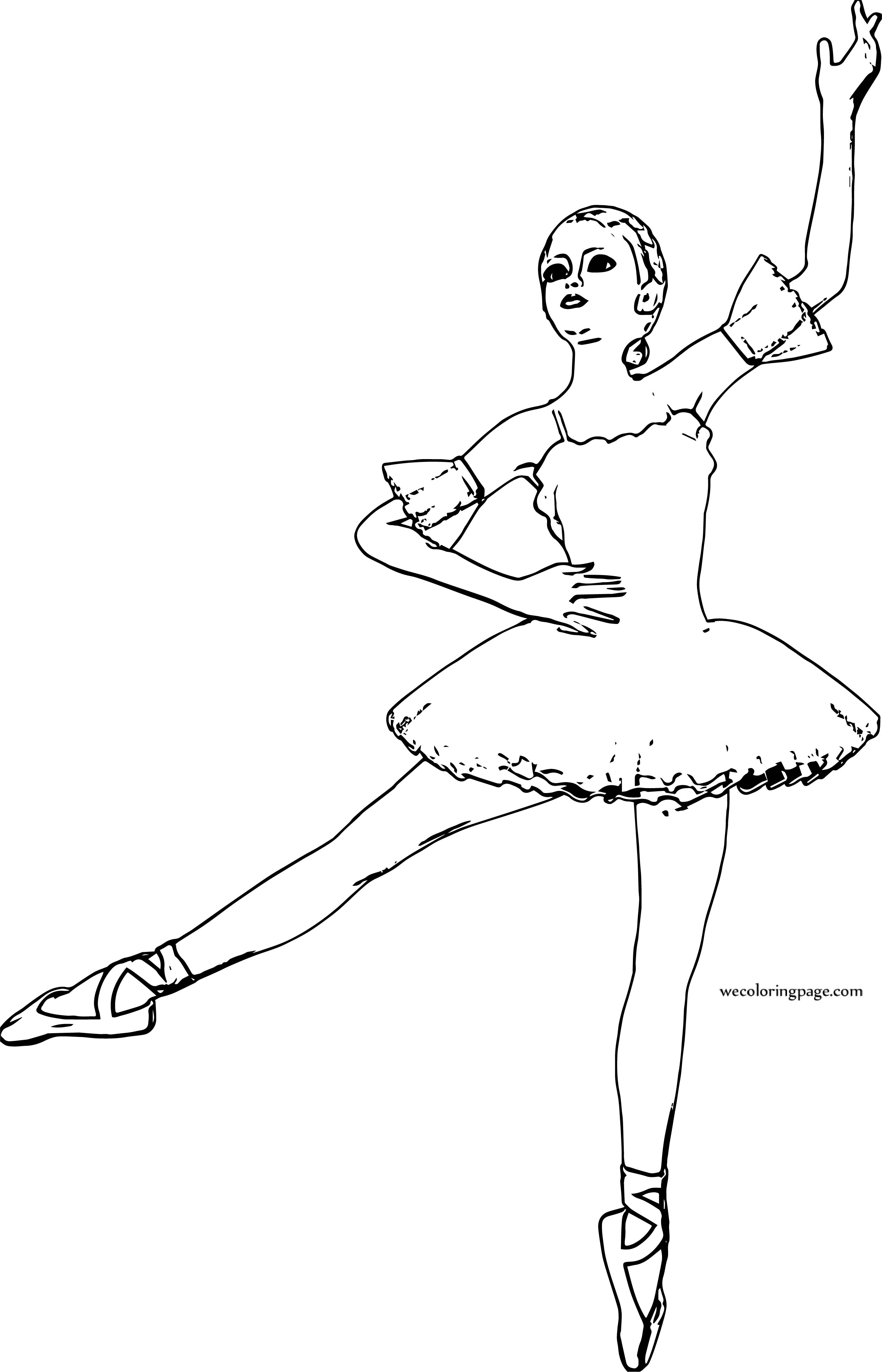 Ballerina Girl Dance Coloring Page