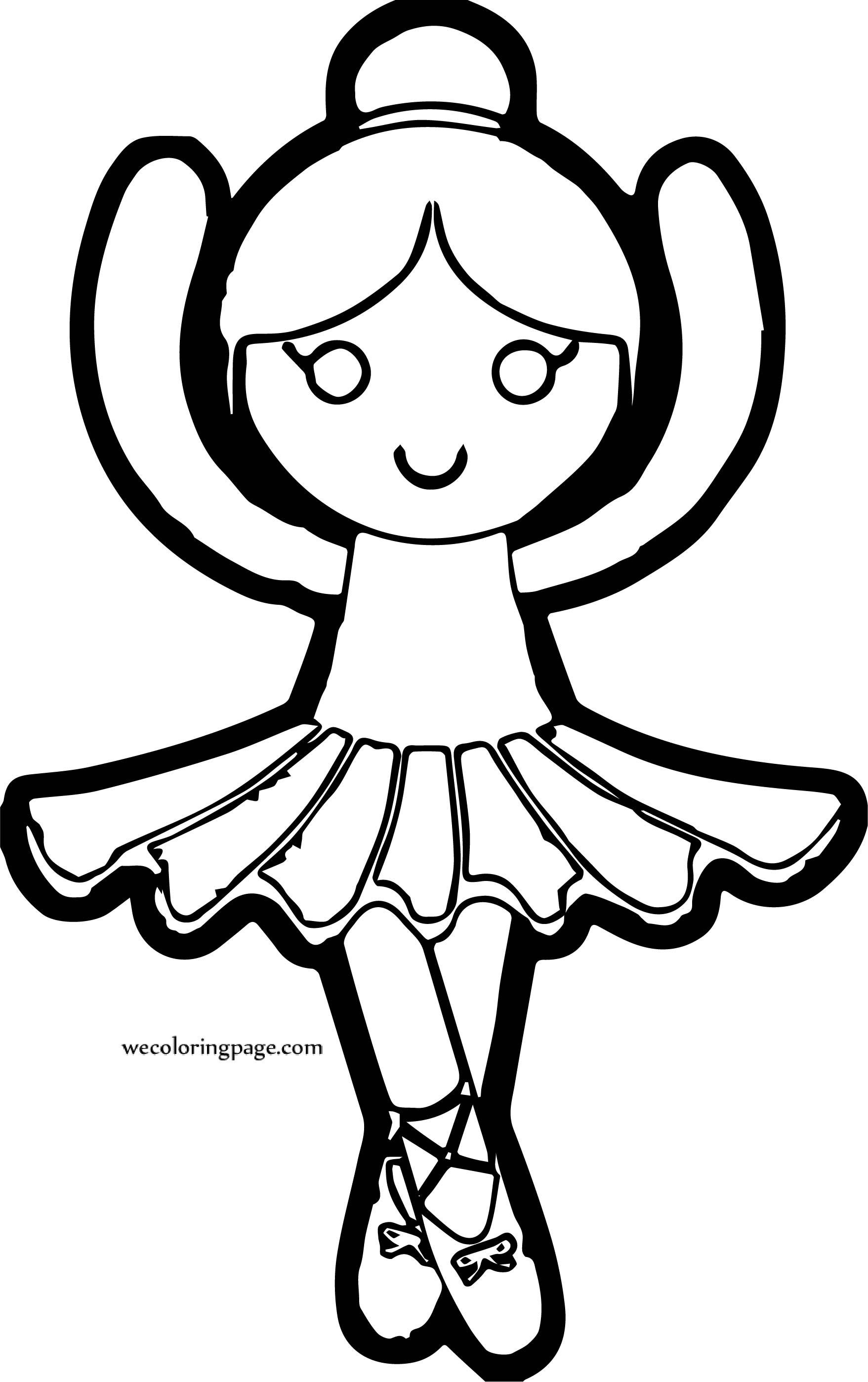 Ballerina Princess Coloring Page