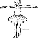 Ballerina T Pose Coloring Page