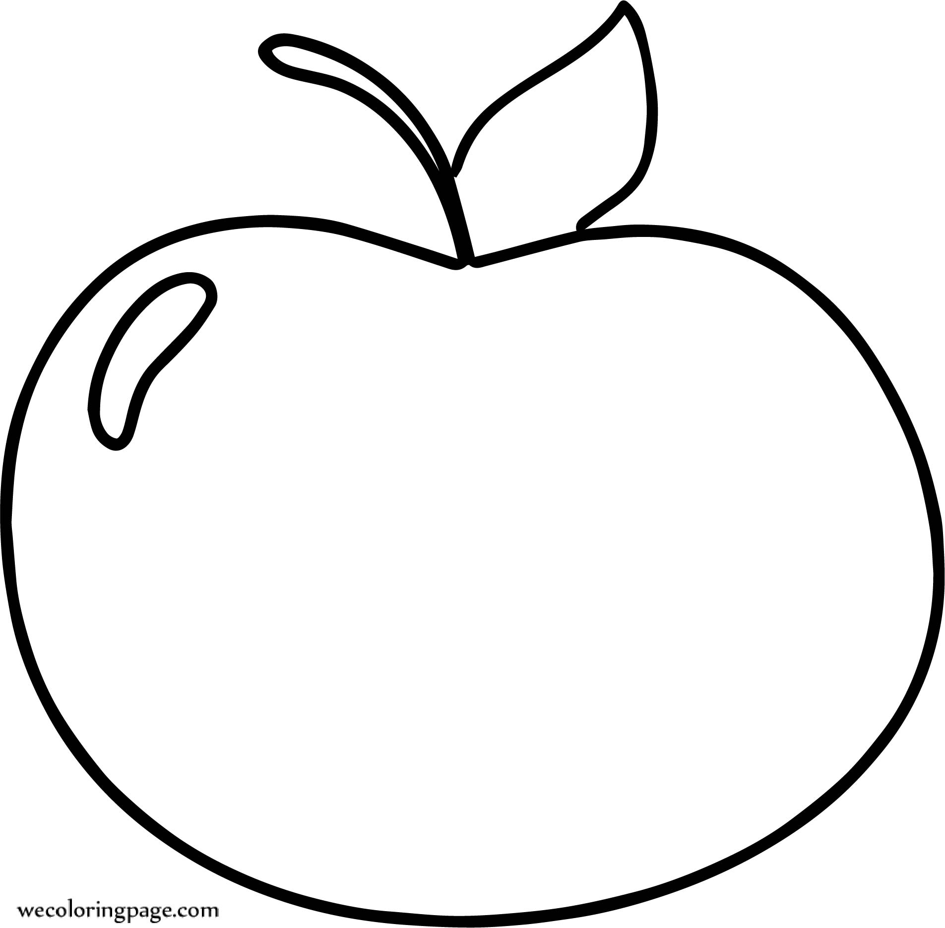 Basic Cute Apple Coloring Page