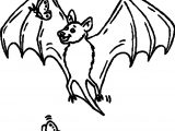 Bat Butterfly Coloring Page