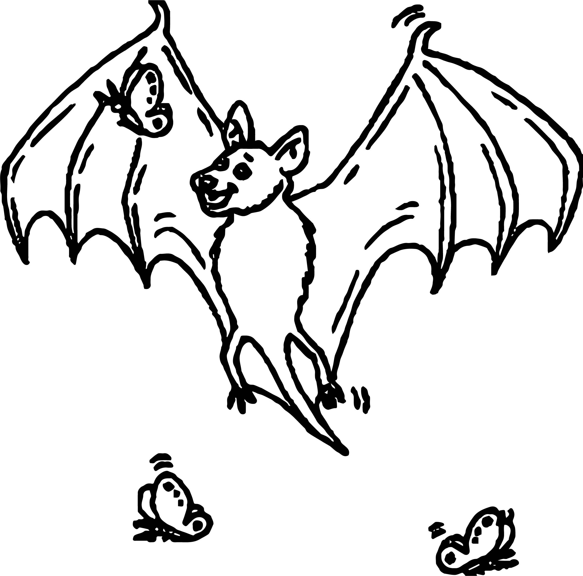 Bat Butterfly Coloring Page | Wecoloringpage.com