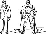 Batman And Human Coloring Page