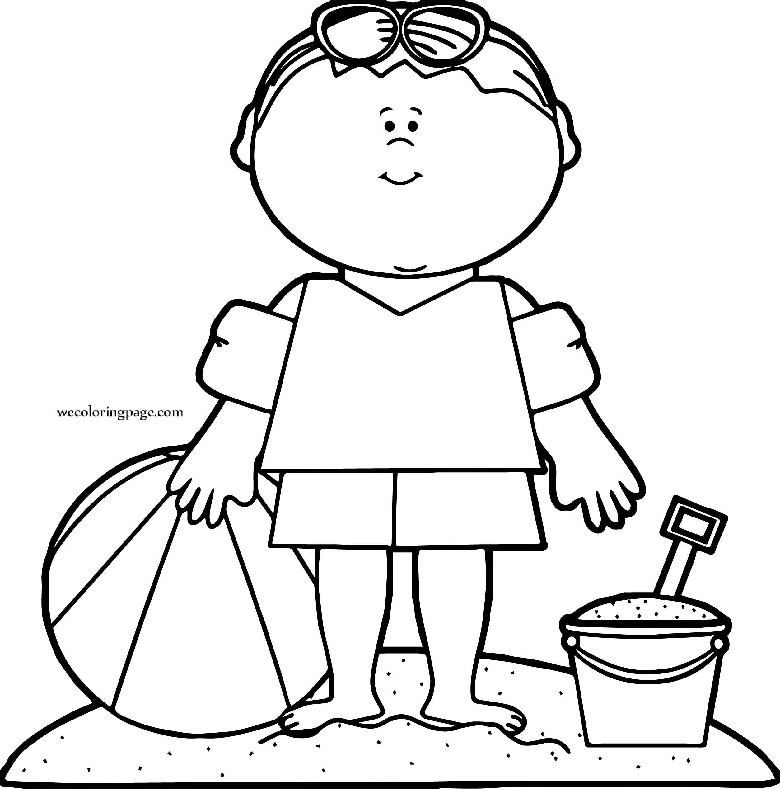 Beach Boy We Coloring Page