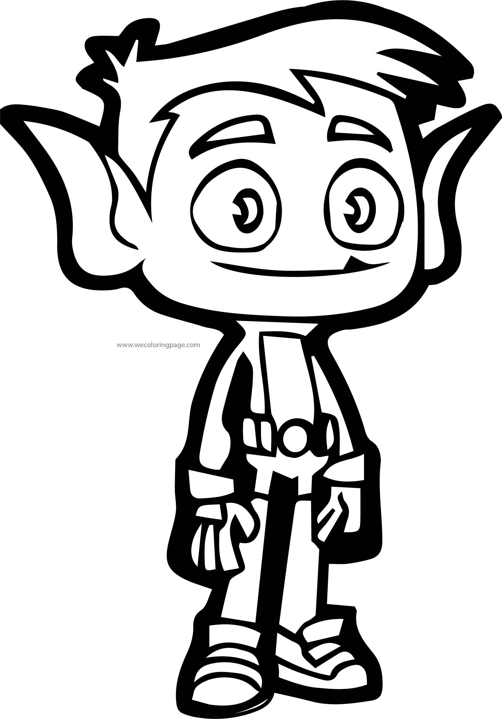Beast Boy Pose Coloring Page