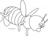 Bee Drop Cartoon Coloring Page