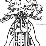 Betty Boop Bike Front Coloring Page
