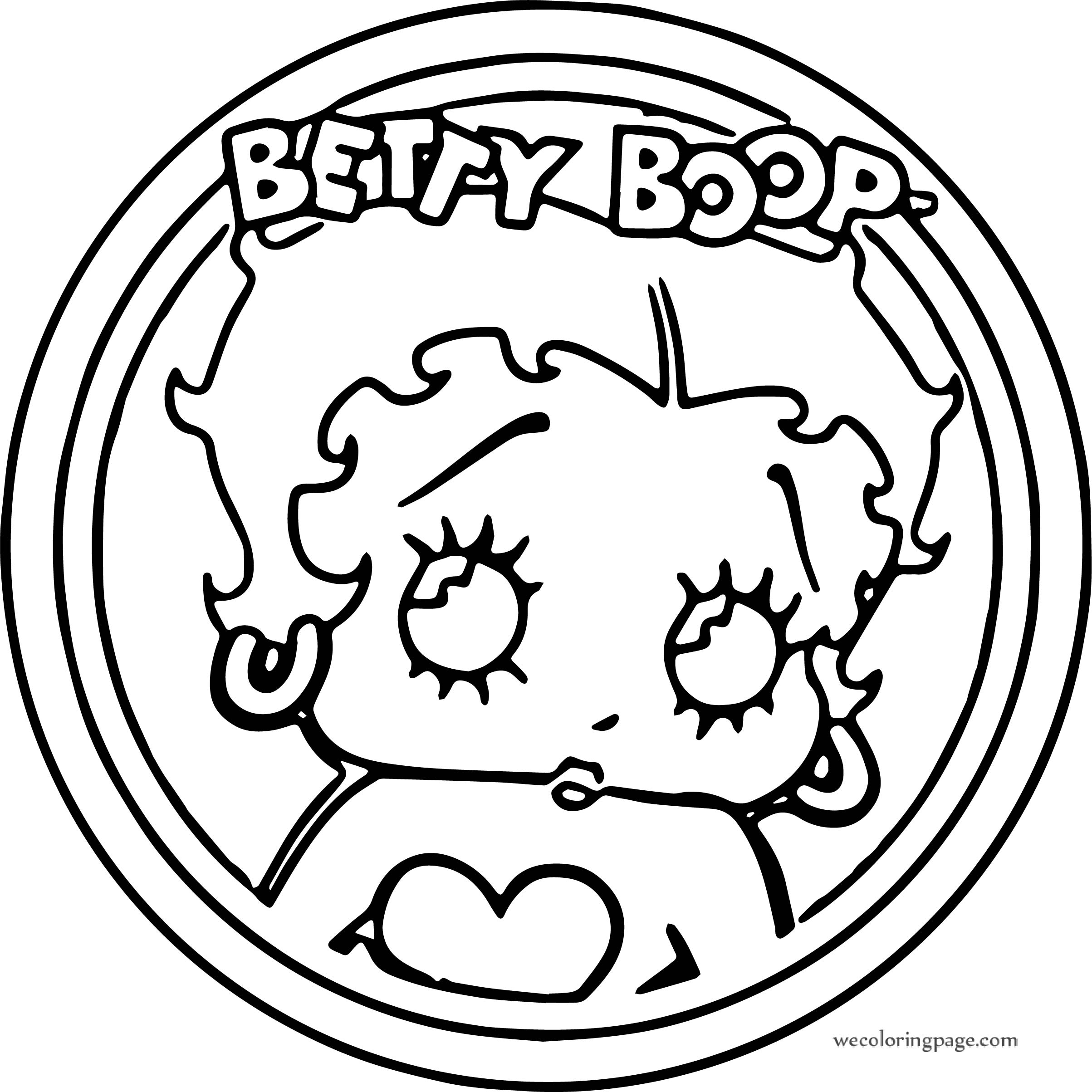 Betty Boop Circle Coloring Pages