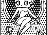 Betty Boop Dotting Sheet Coloring Page