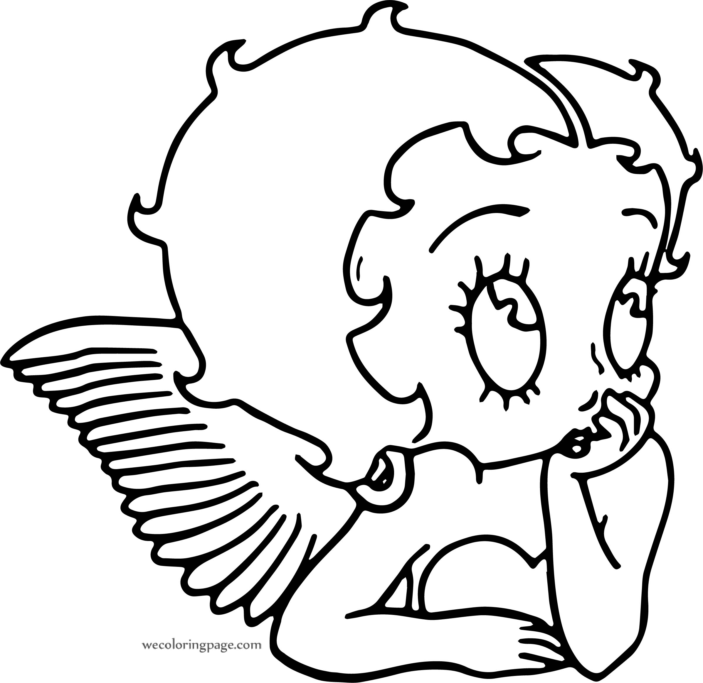 Betty Boop Wing Coloring Page