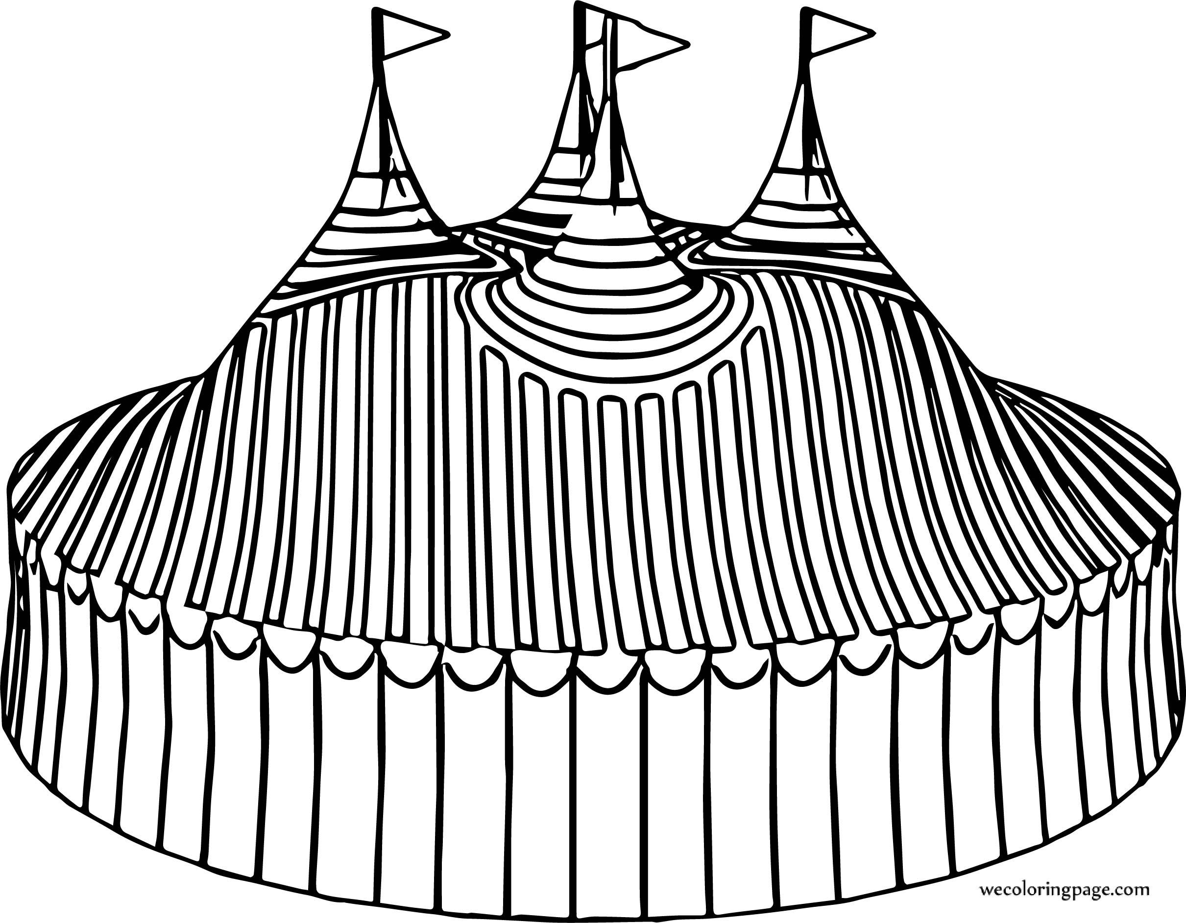 Big Circus Tente Coloring Page