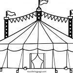 Big Top Tent Hi Coloring Page