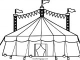 Big Top Tent Hi Coloring Page