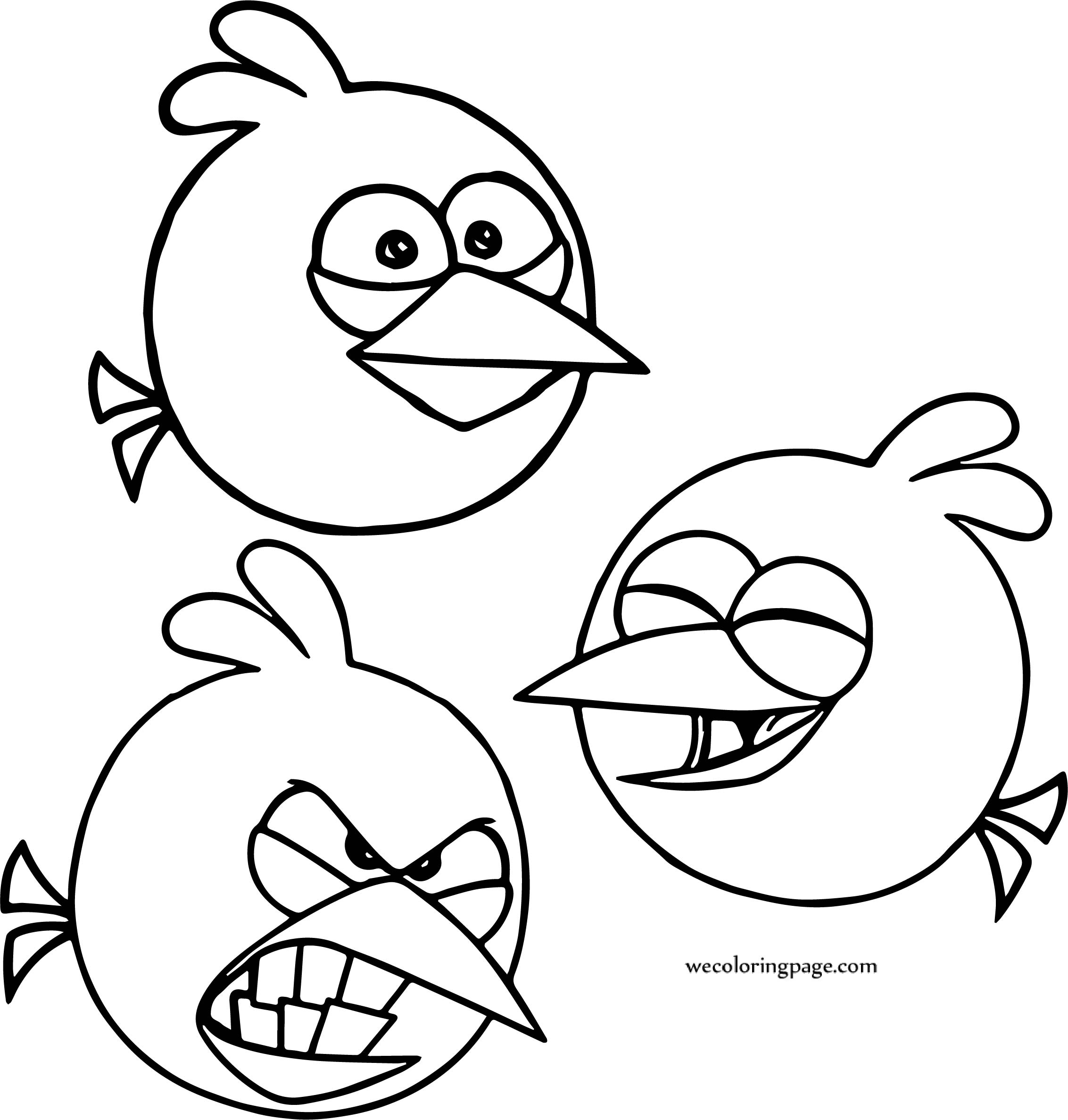 Blues Angry Birds Feel Coloring Page