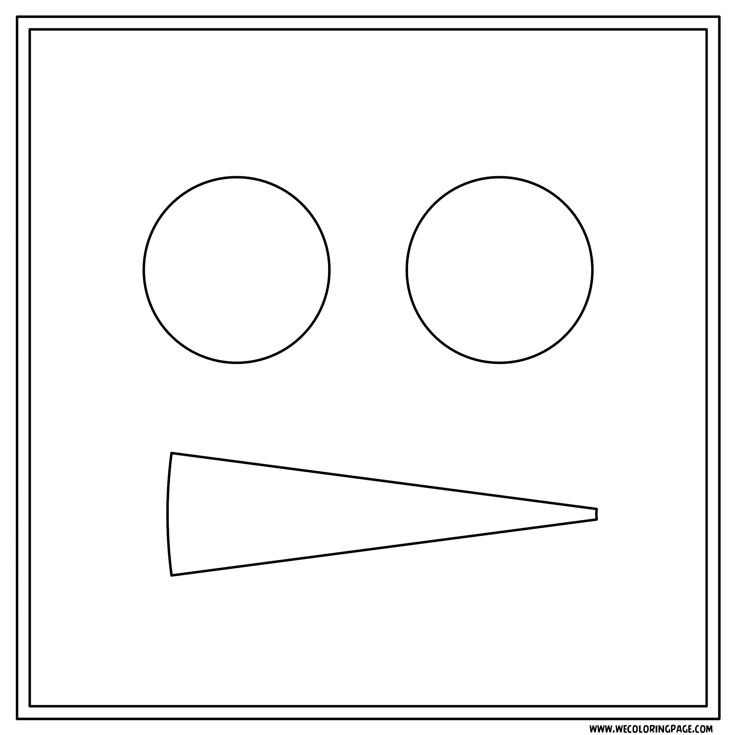 Box Pizza Face Coloring Page