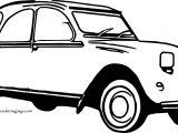Boy Car Coloring Page