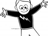 Boy Electric Shirt Coloring Page