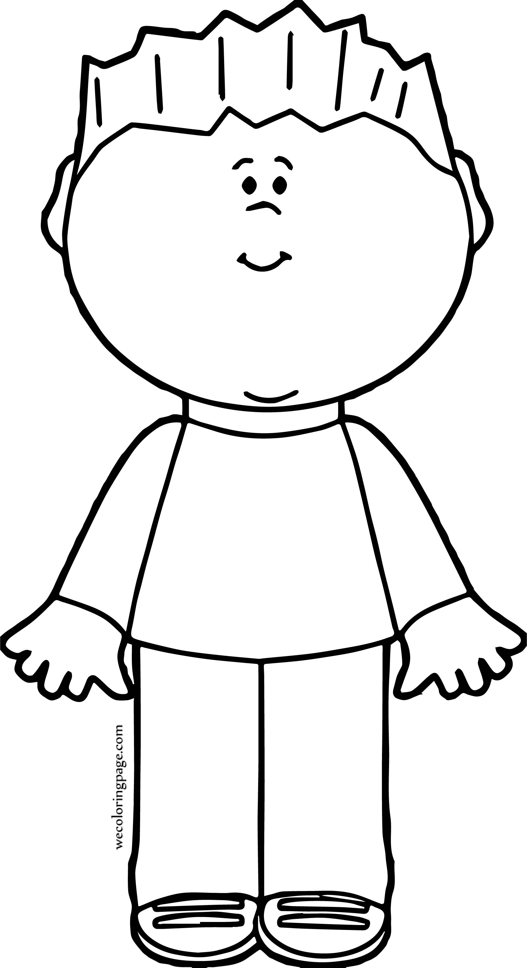 Boy Front Coloring Page | Wecoloringpage