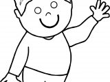 Boy Hello Kid Coloring Page
