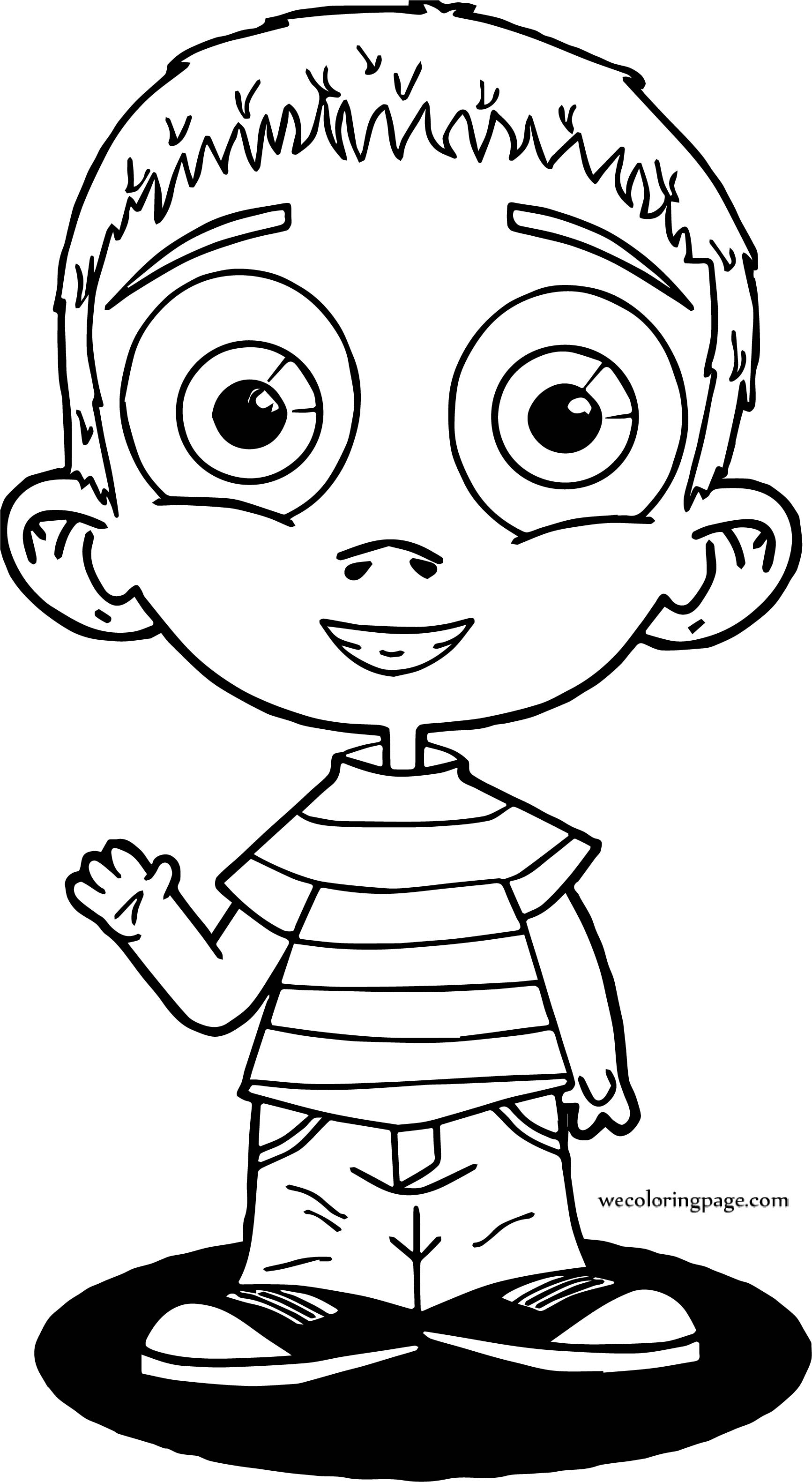 Boy Welcome Coloring Page