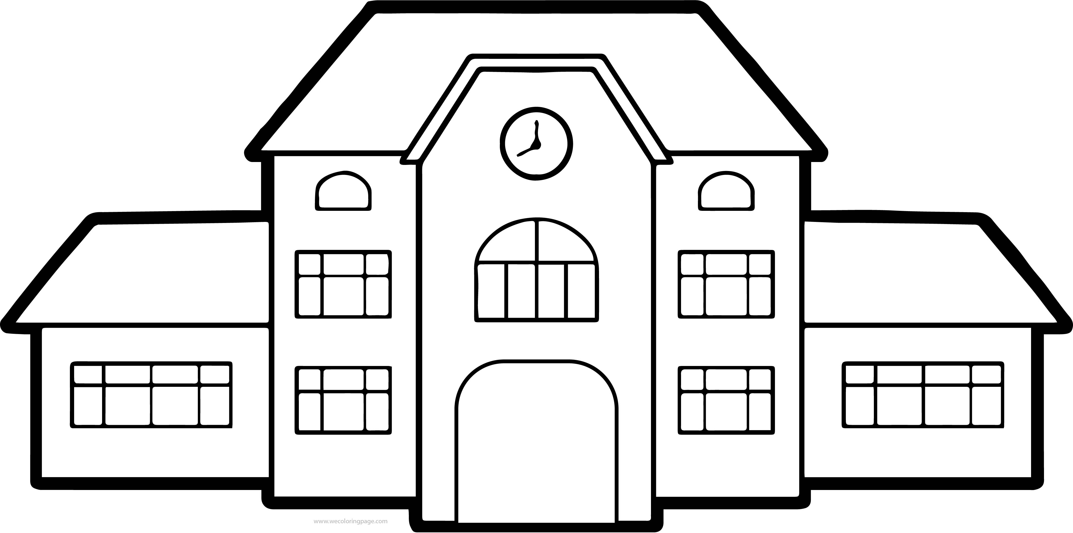 Buildings Images Free Coloring Page