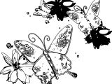 Butterfly Chaos Coloring Page