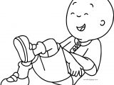 Caillou Laugh Coloring Page