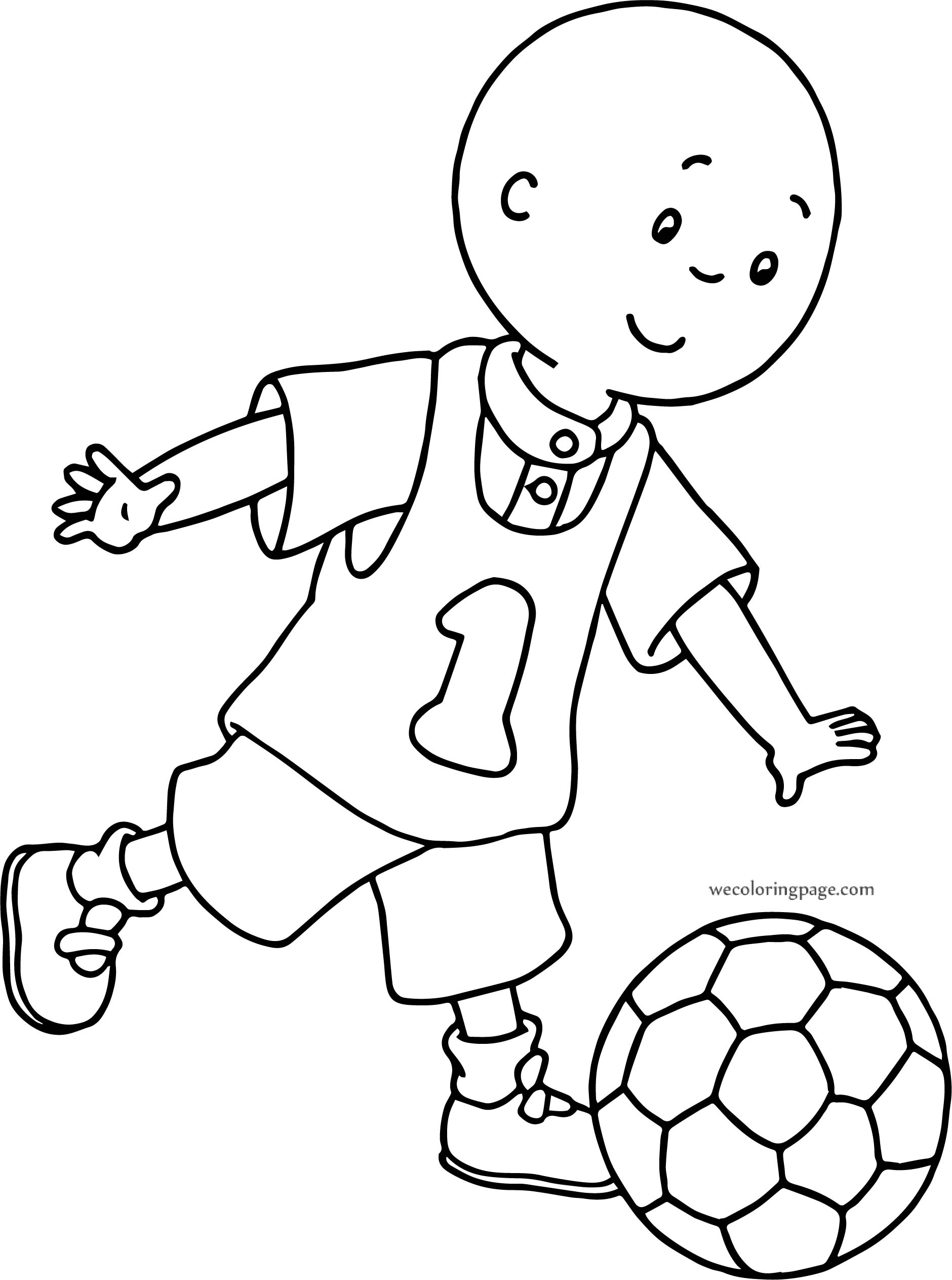 Caillou Playing Ball Coloring Page