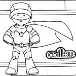 Caillou Robot Coloring Pages