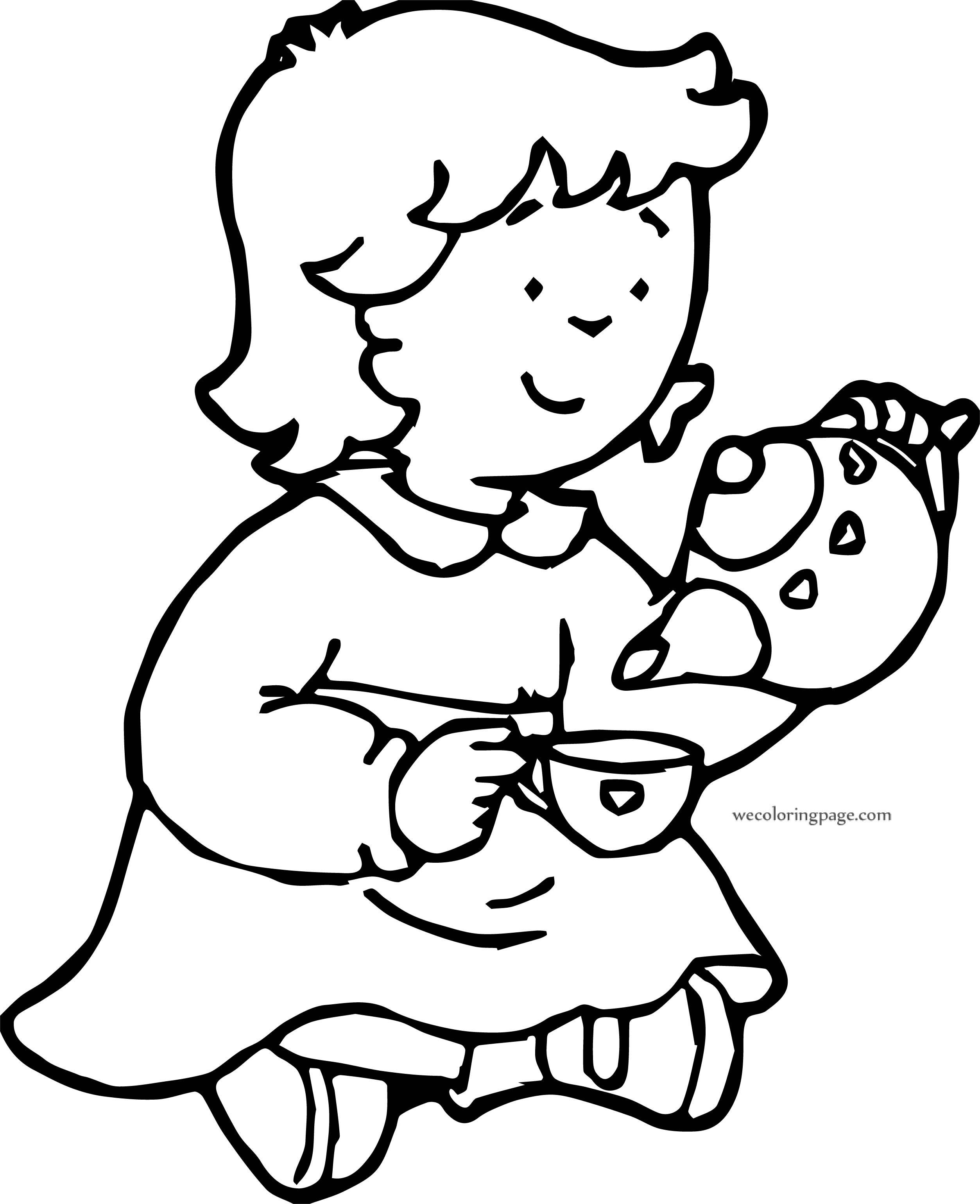 Caillou Sister Tea Game Coloring Page