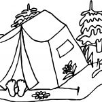 Camping Sleep Coloring Page