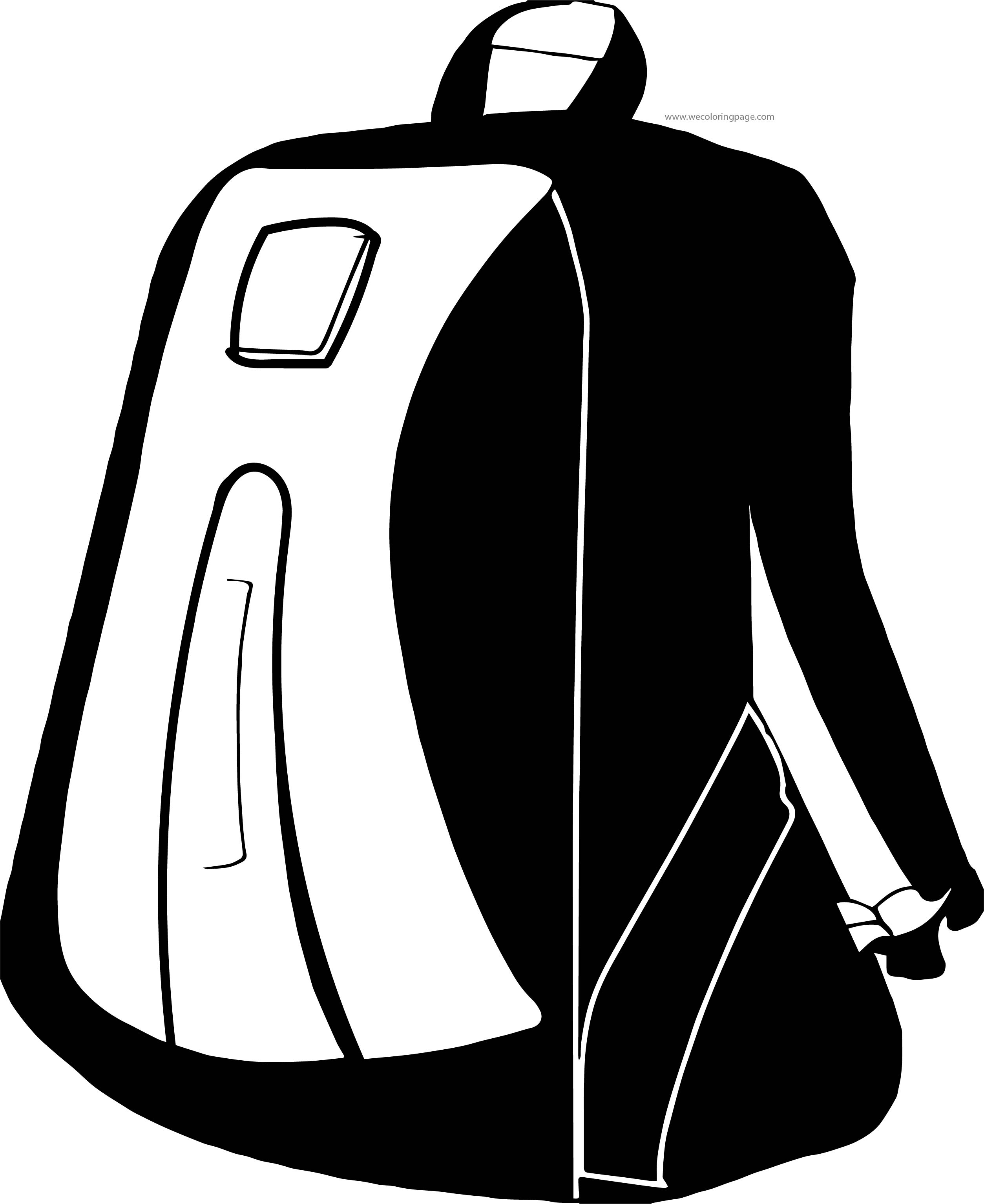 Can School Bag Coloring Page