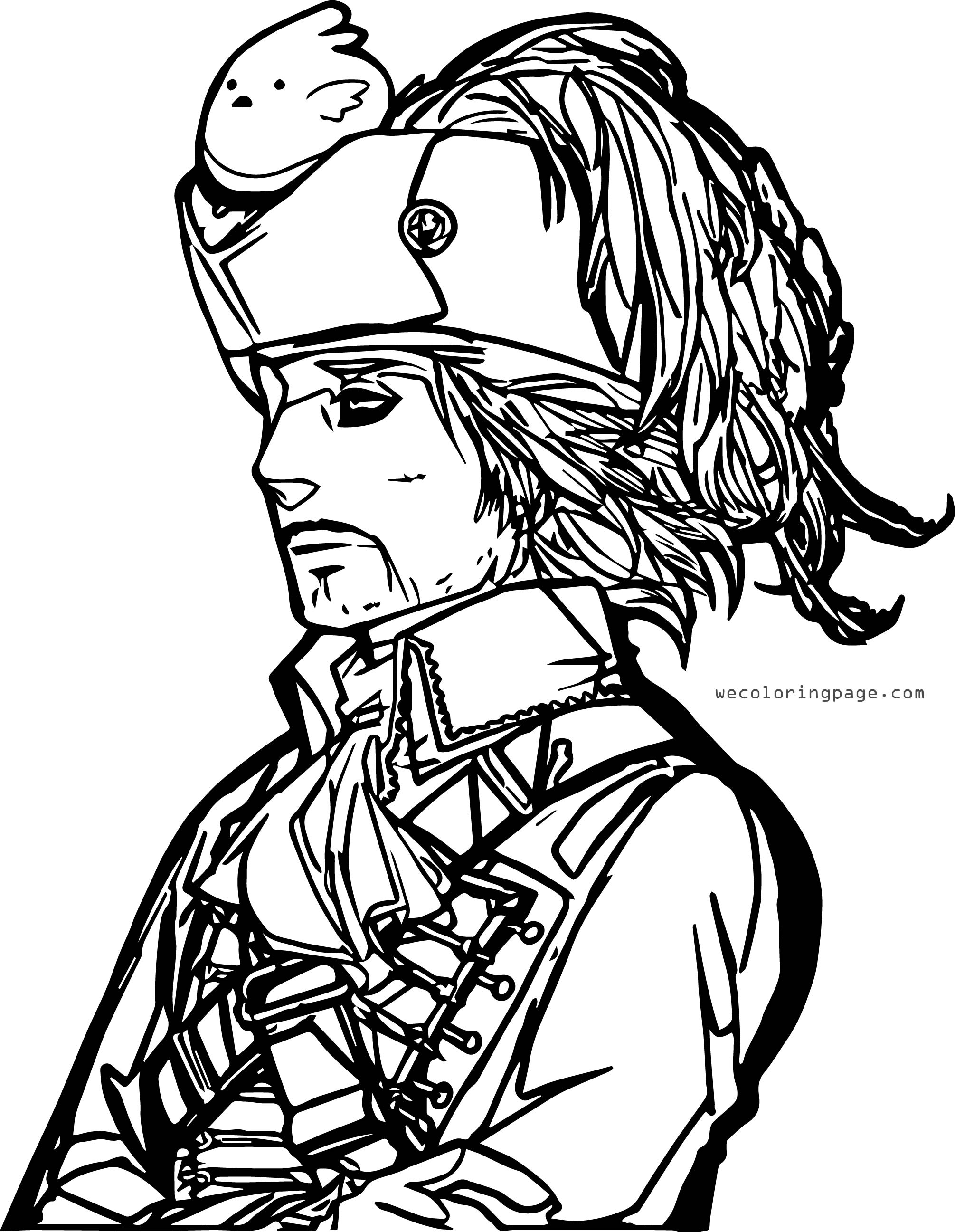 Captain Manga Man Coloring Page