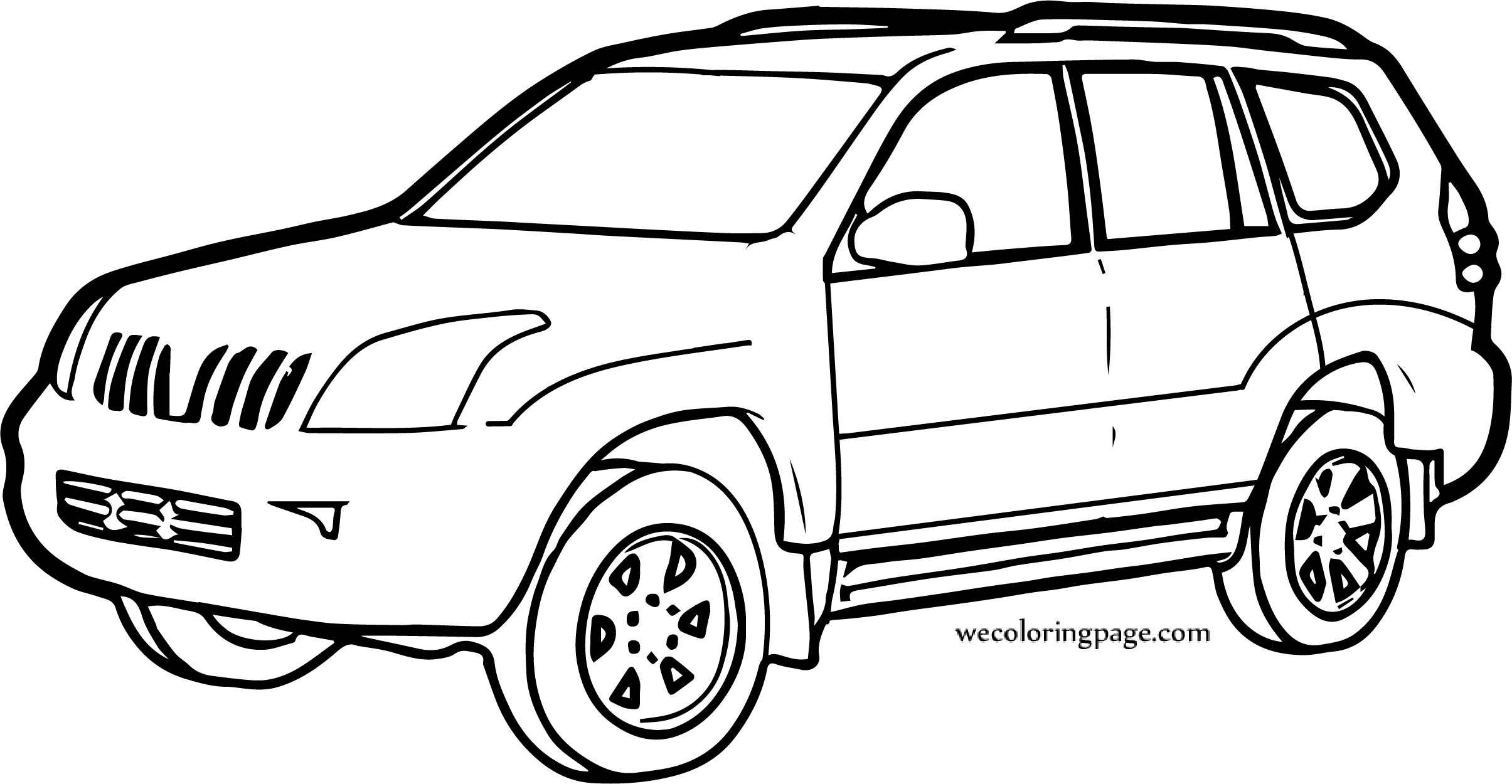 car jeep coloring pages
