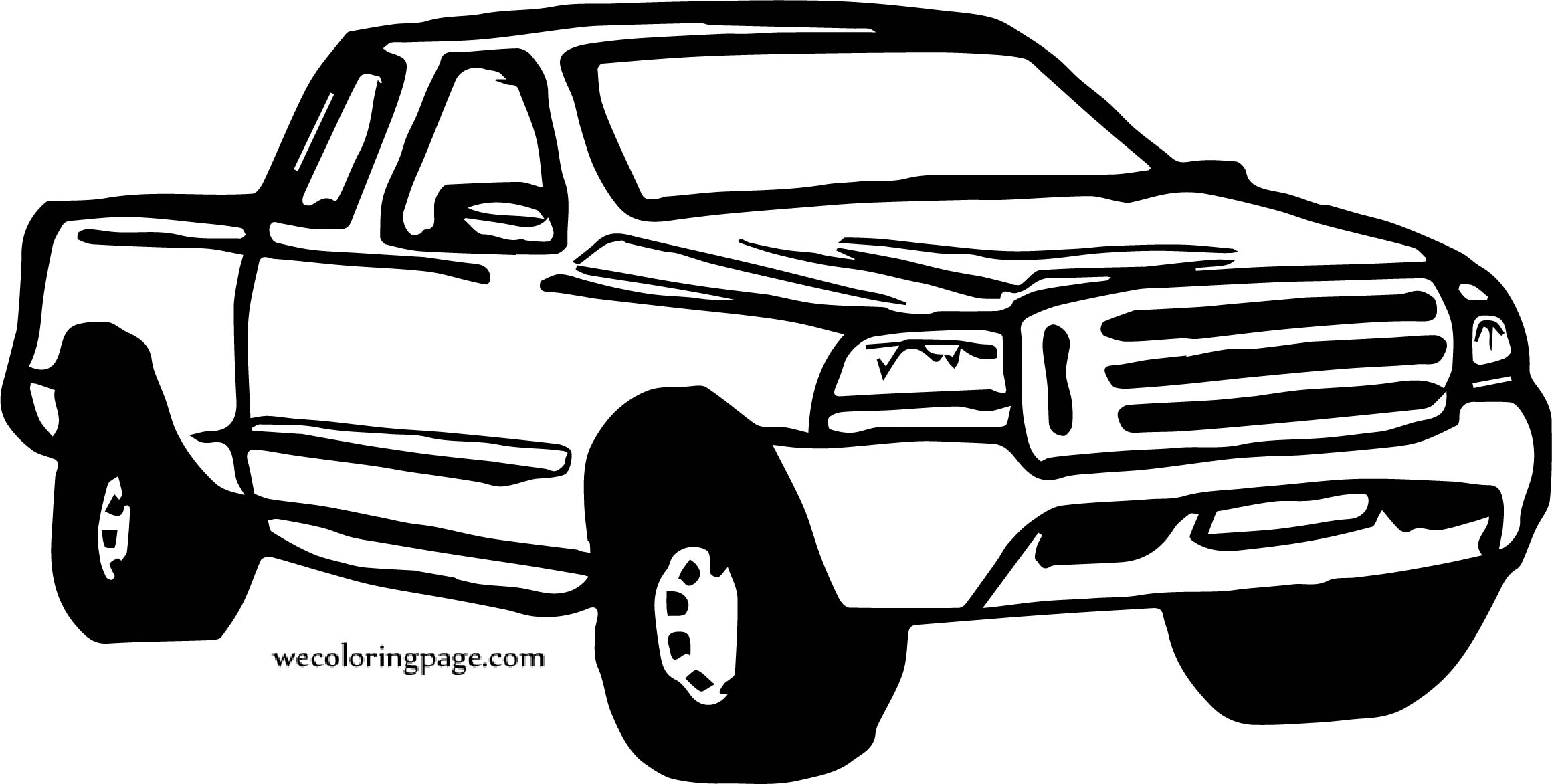 Car Jeep Old Coloring Page