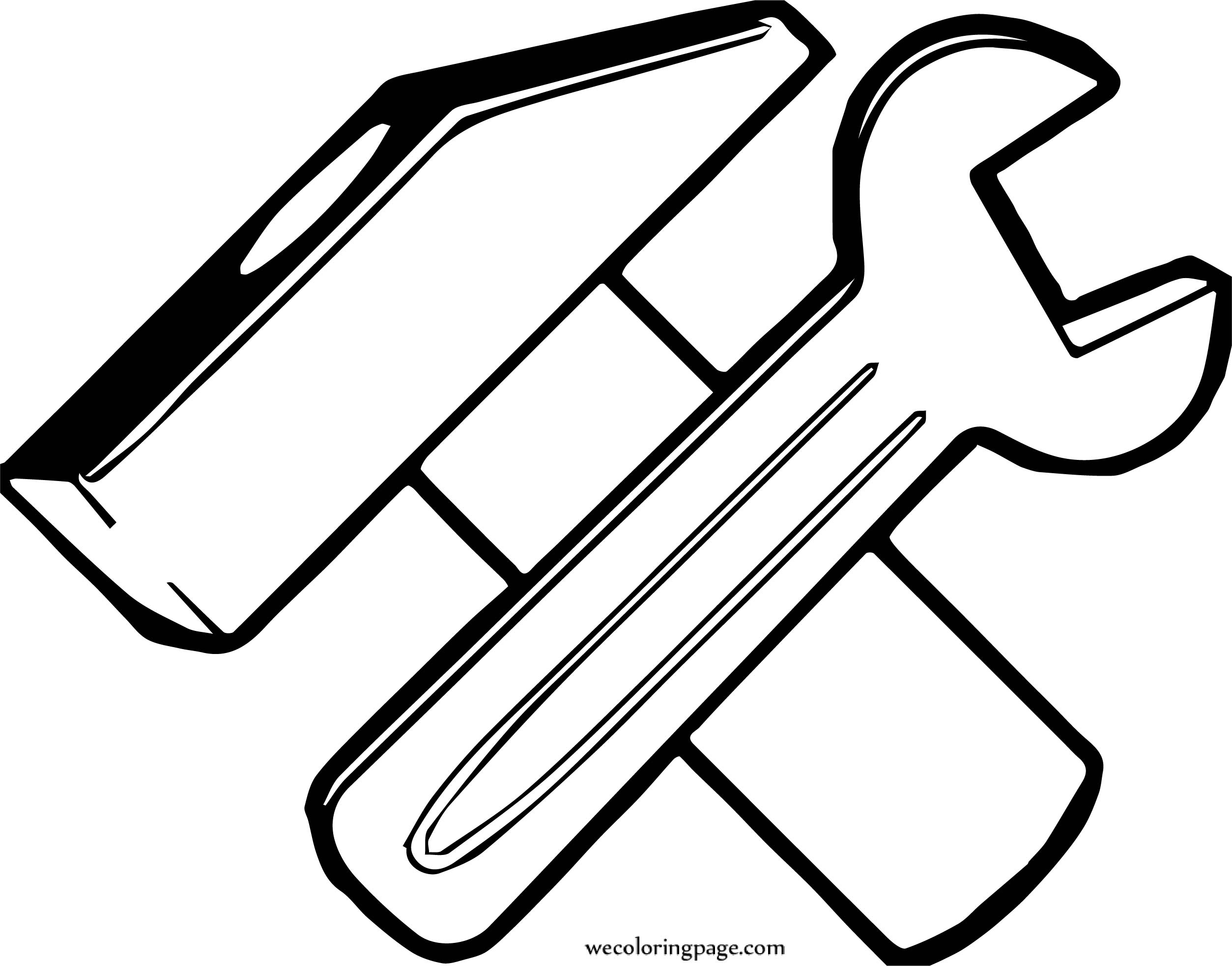 carpenter hammer spanner coloring page wecoloringpagecom