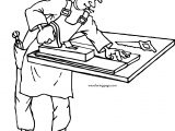 Carpenter Staple Coloring Page