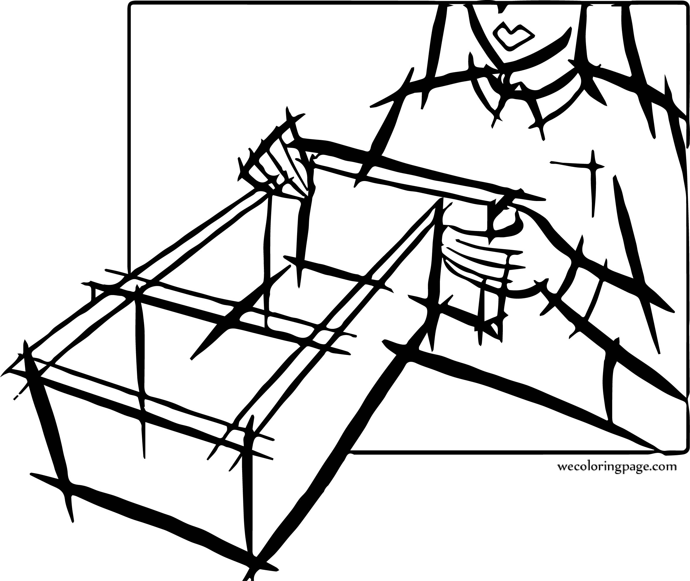 Carpenter Woman Coloring Page