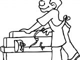 Carpenter Working Coloring Page
