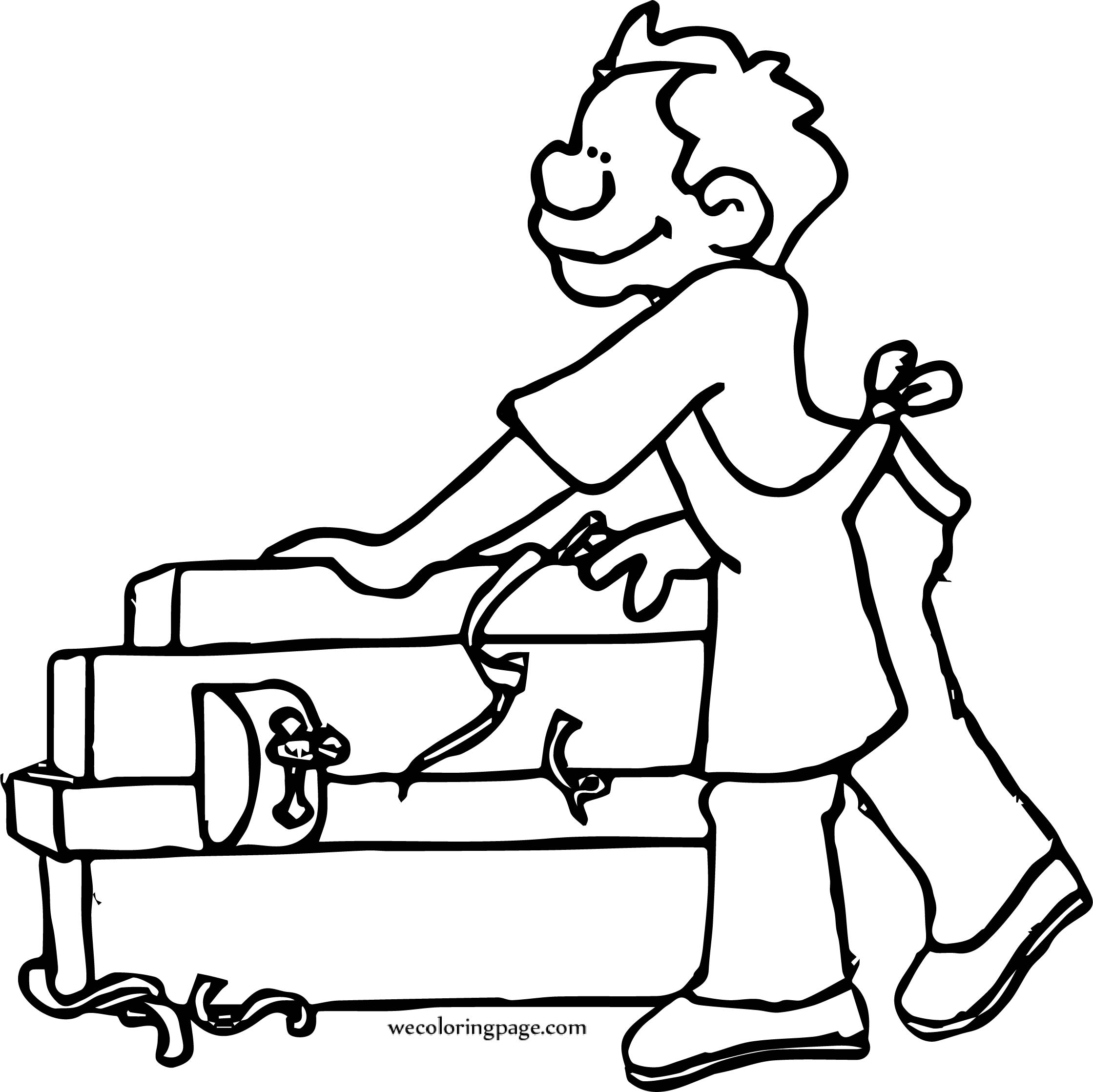 carpenter working coloring page wecoloringpage