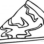Cheese Pizza Slice Coloring Page