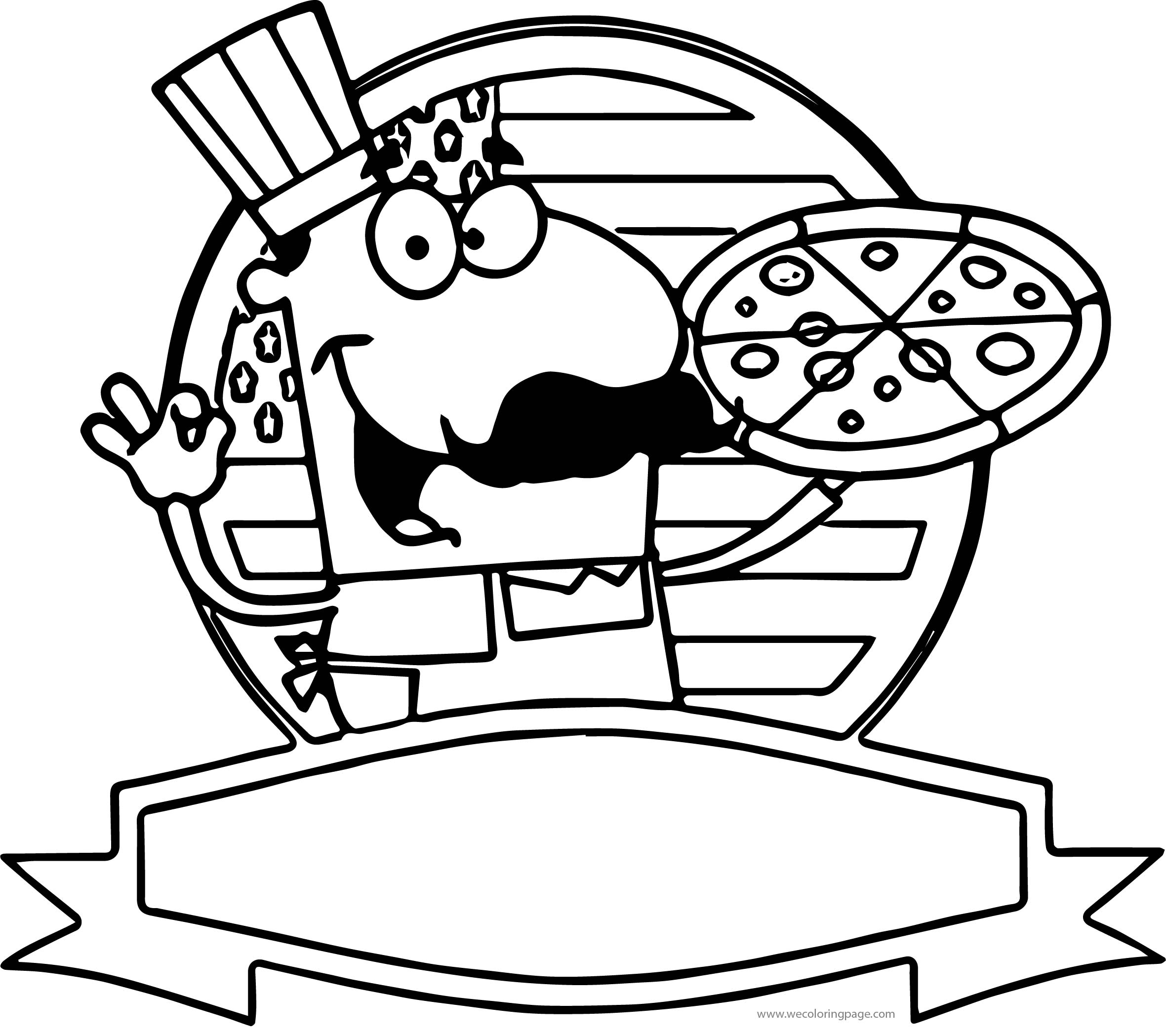 Chef American Usa Flag Pizza Coloring Page