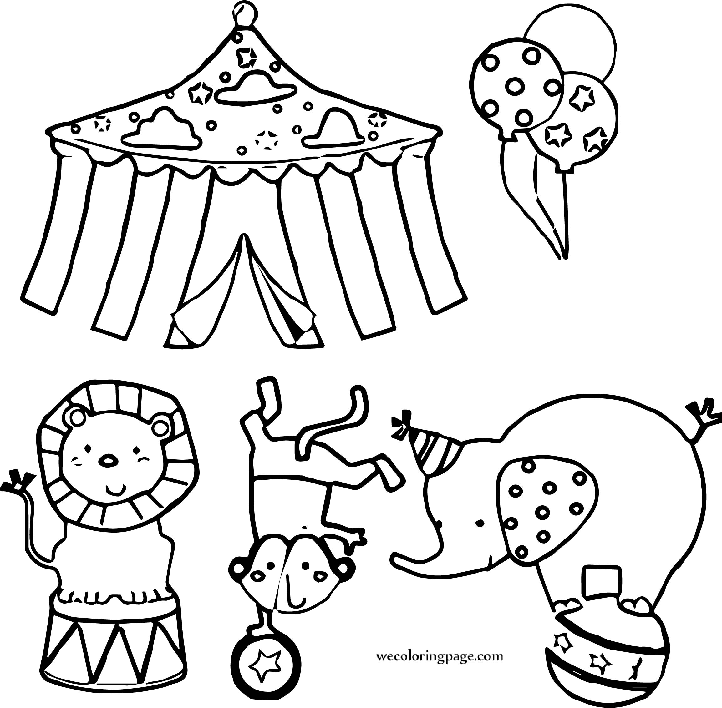Circus Acts Coloring Page
