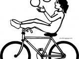 Circus Biycle Girl Coloring Page