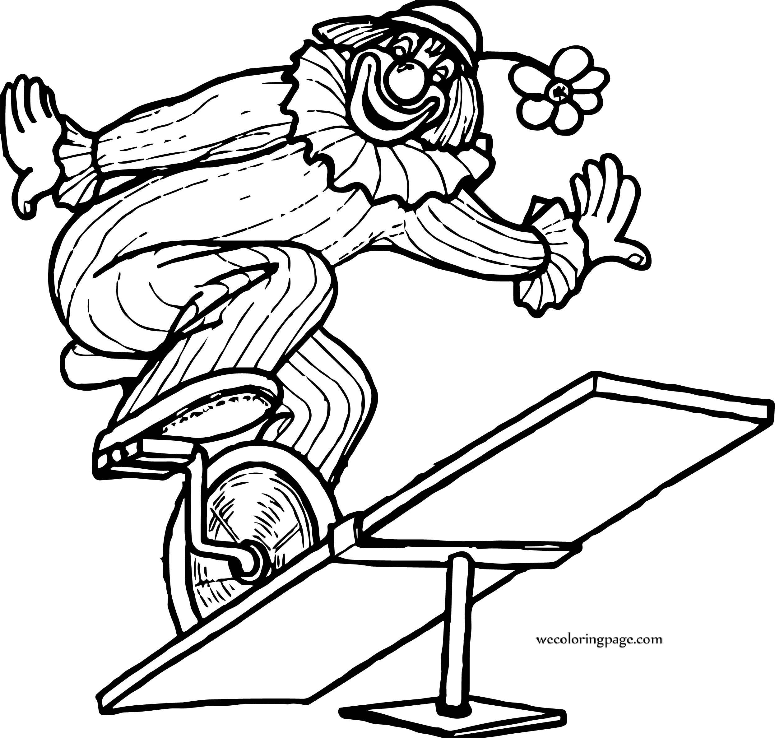 Circus Clown Bike Seesaw Coloring Page
