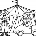 Circus Clown Tente Car Coloring Page Circus Theme