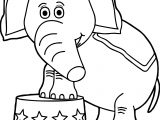 Circus Elephant Star Waiting Coloring Page