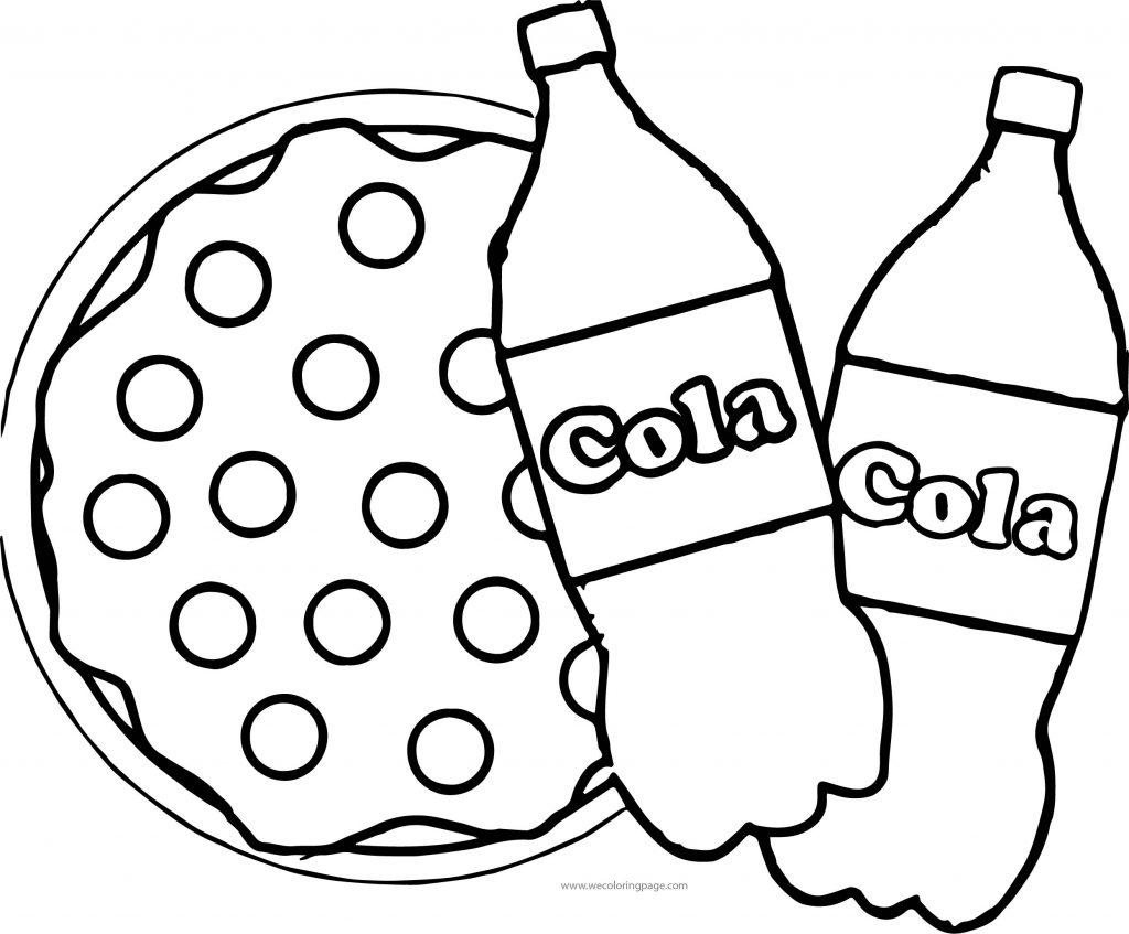 Cola Pizza Coloring Page | Wecoloringpage.com