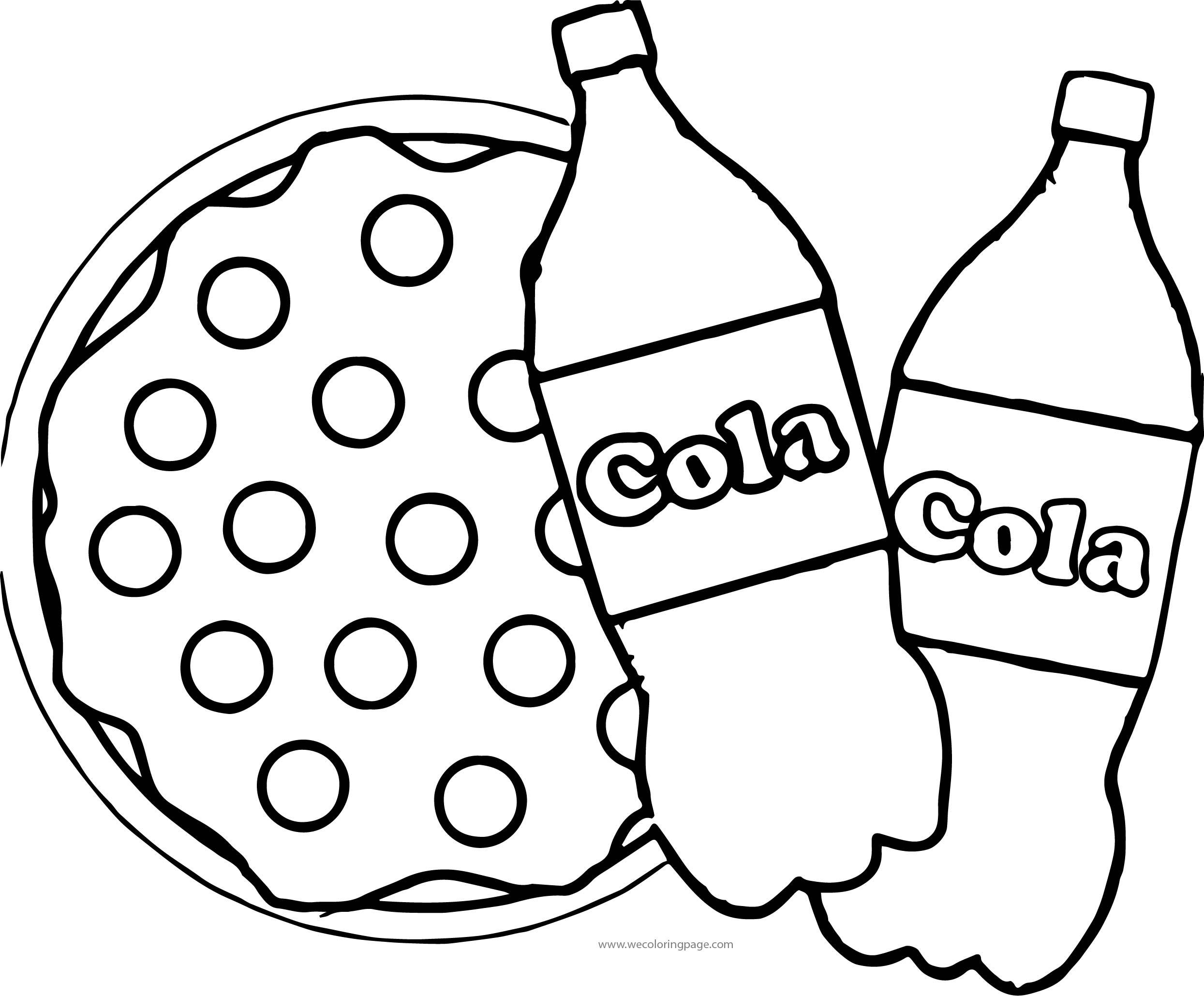 Cola Pizza Coloring Page