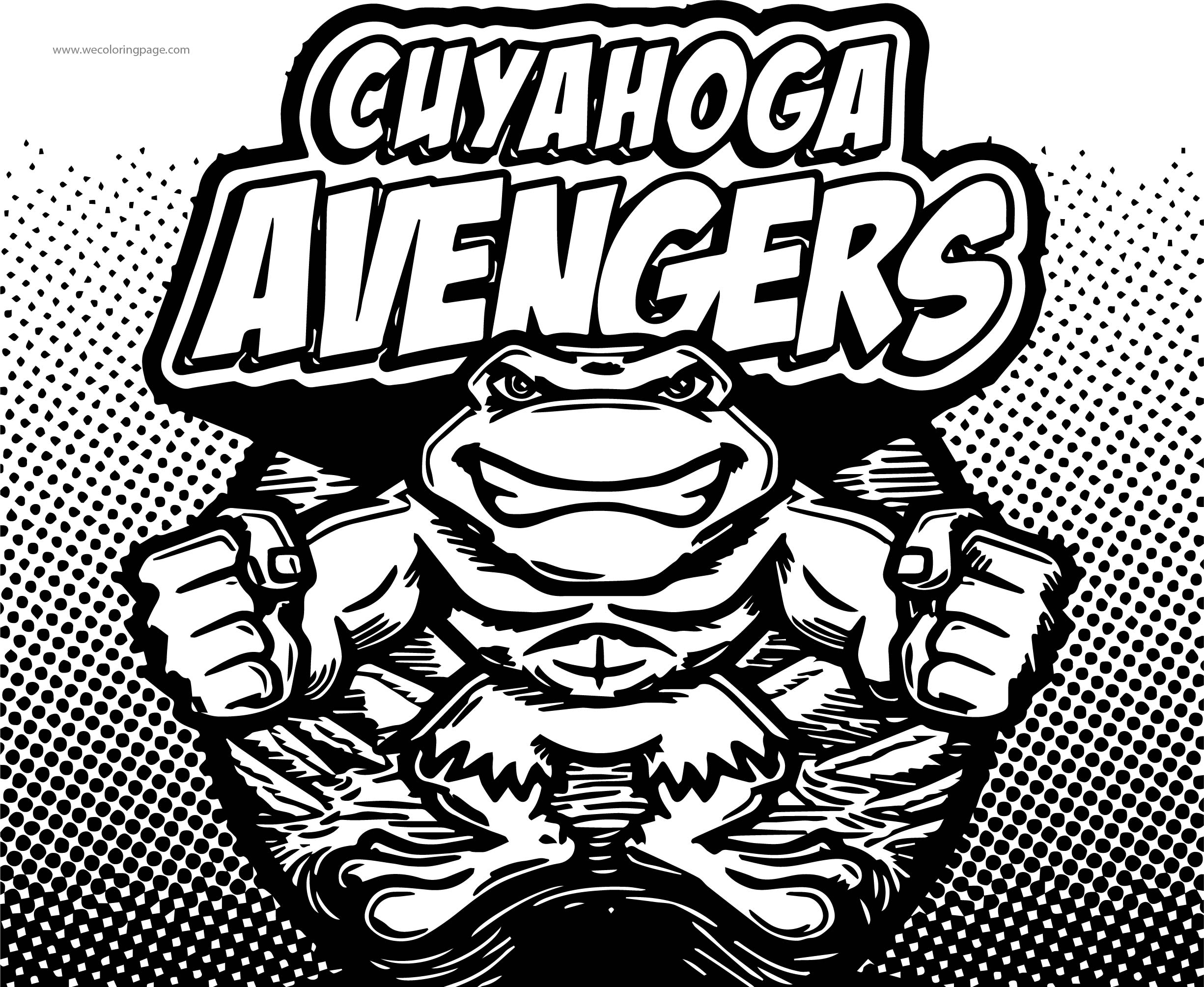 Cuyahoga Avengers Coloring Page | Wecoloringpage.com